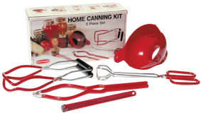 5-Pc. Home Canning Kit Includes canning funnel, jar opener, jar lifter, lid lifter, and tongs. (286) product image.