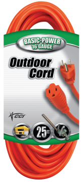 25-Ft. 16/3 Outdoor Extension Cord product image.