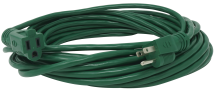 40-Ft. 16/3 Green Outdoor Extension Cord Resists moisture, abrasion and exposure to sunlight. Heavy duty molded on plug and connector. (2272003) (02356) product image.