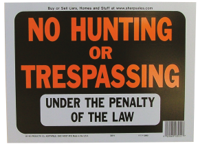 9-In. x 12-In. Plastic Hy-Glo Sign product image.