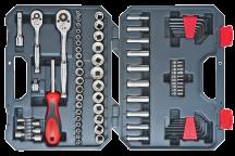 84-Pc. Mechanics Socket Tool Set Nickel Chrome Plated or long-lasting protection. Chrome Vanadium Steel. (4445227) (CTK84CMP) product image.