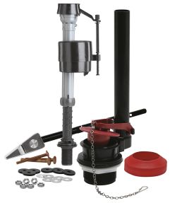 Complete Toilet Repair Kit Complete toilet repair kit includes the #1 fill valve in the world, the 400A, a 2-In. flush valve with a flapper, a new tank lever and tank to bowl hardware and gaskets. (5230099) (400AKRP10) product image.
