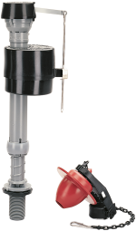 Toilet Fill Valve Flapper Kit 501 flapper which resists chlorine. Fits most 1 and 2 piece toilets. (5230107) (400CRP14) product image.