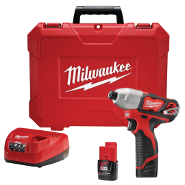M12 1/4-In. Hex Impact Driver Kit product image.