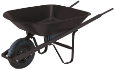 4-Cu. Ft. Steel Wheelbarrow product image.