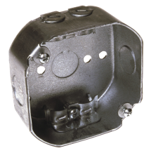 4-In. x 1-1/2-In. Deep Steel Octagon Box For ceiling or wall light fixture installation. 50-Lb. max support for fixture. (5717137) (146) product image.