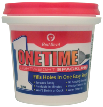 """""""Onetime"""" Lightweight Spackling Compound product image."""