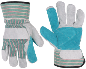 Cotton Palm Safety Cuff Work Gloves product image.