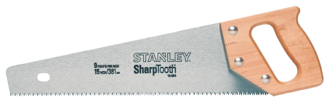 15-In. Short Cut Handsaw Aggressive three-sided tooth design cuts 50% faster than conventional hand saws. (4341699) (15-334) product image.