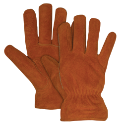 Piled Lined Split Leather Gloves product image.
