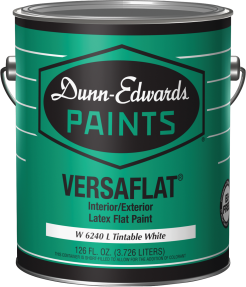 1-Gal. VERSAFLAT® Interior/Exterior Latex Paint Washable flat paint designed for interior and exterior applications. (6240) product image.