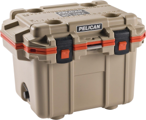 30-Qt. Tan/Orange Cooler (2005791) (30Q-2-TANORG) product image.