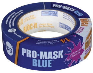 1.41-In. x 60-Yd. Pro-Mask Blue Masking Tape Painter's masking tape with special adhesive that provides clean removability. (6029177) (9532-1.5) product image.